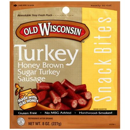 - (3 pack) Old Wisconsin 8oz Honey Turkey Snack Bites