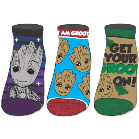 Marvel Guardians Of The Galaxy I Am Groot 3 Pack Ankle Socks Apparel