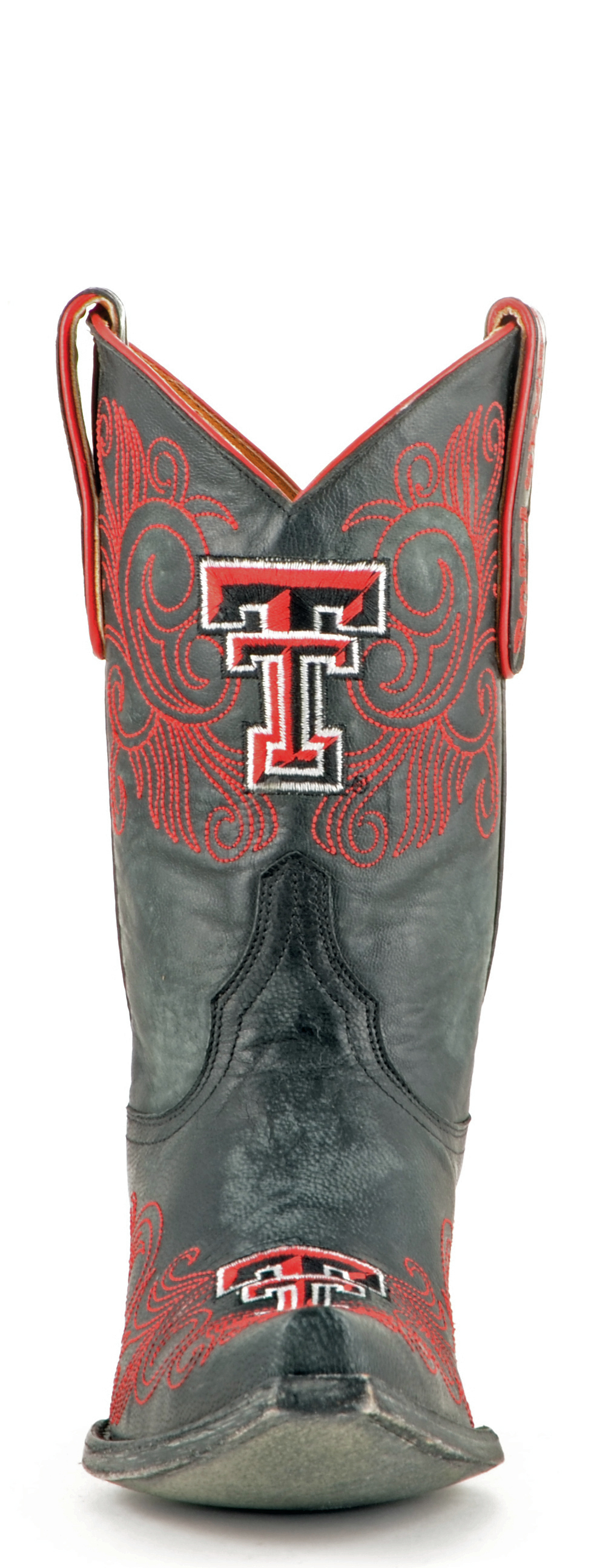 "Gameday Boots Women's 10"" Short Leather Texas Tech Cowboy Boots 3626 NEW"