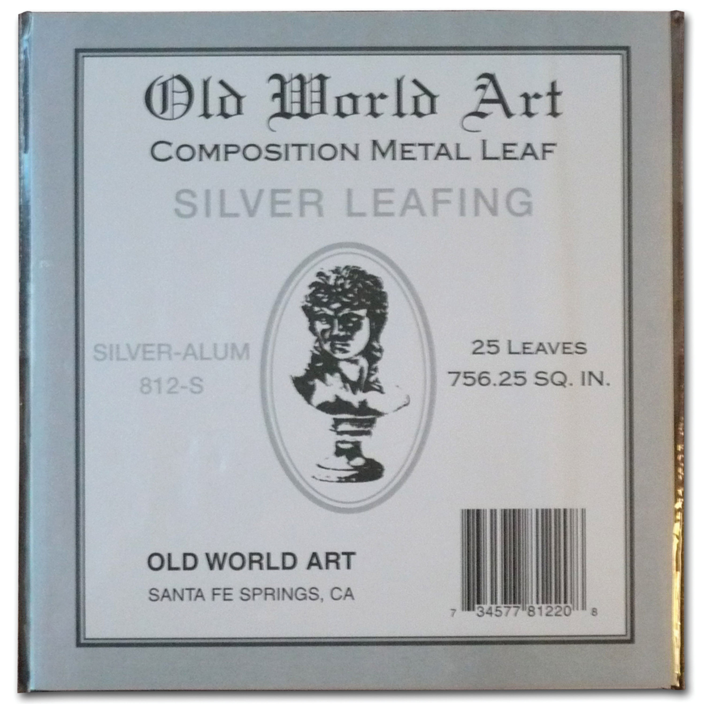 "Old World Art Metallic Leafing Sheet, 5.5"" x 5.5"", Composition Silver/Aluminum"