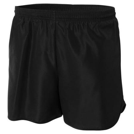 Adidas 8 Inch Shorts - A4 Apparel N5344 4 Inch Running Shorts - Black - Small
