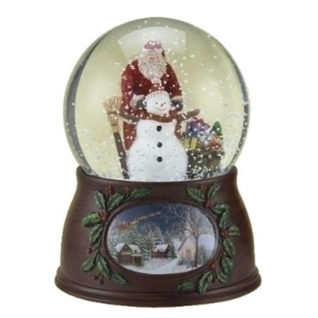 Musical Snowman Snowglobe (Roman Musical Revolving Santa Claus & Snowman Snow Globe Glitterdome Plays Have Yourself A Merry Little Christmas )