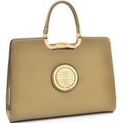Dasein Rolled Handle Faux Buffalo Briefcase with Removable Shoulder Strap