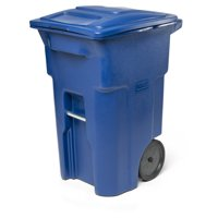 Toter 64 Gal. Trash Can Blackstone with Quiet Wheels and Lid