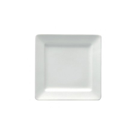 "Buffalo F8010000117S Bright White Ware 6-1/4"" Square Plate - 36 / CS"