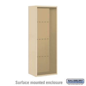 Surface Mounted Enclosure for 3712 Single Column Unit Sandstone