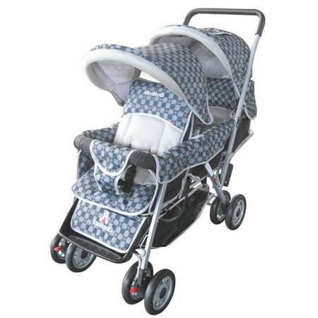 AmorosO 43483 Black Deluxe Double Stroller