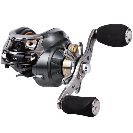 Baitcasting Reel, 11+1 Stainless Steel Bearings, 18LB Super Drag, Magnetic Brake System Fishing Reel for Bass, Crappies, Perch, Trout, Walleyes Fishing Bass Fly Fishing Reel