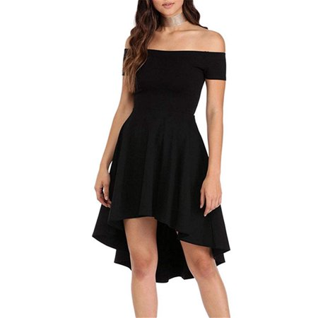 Top Knobs Womens Off The Shoulder Short Sleeve High Low Cocktail Skater Dress](Jelly The Pug Dress Sale)