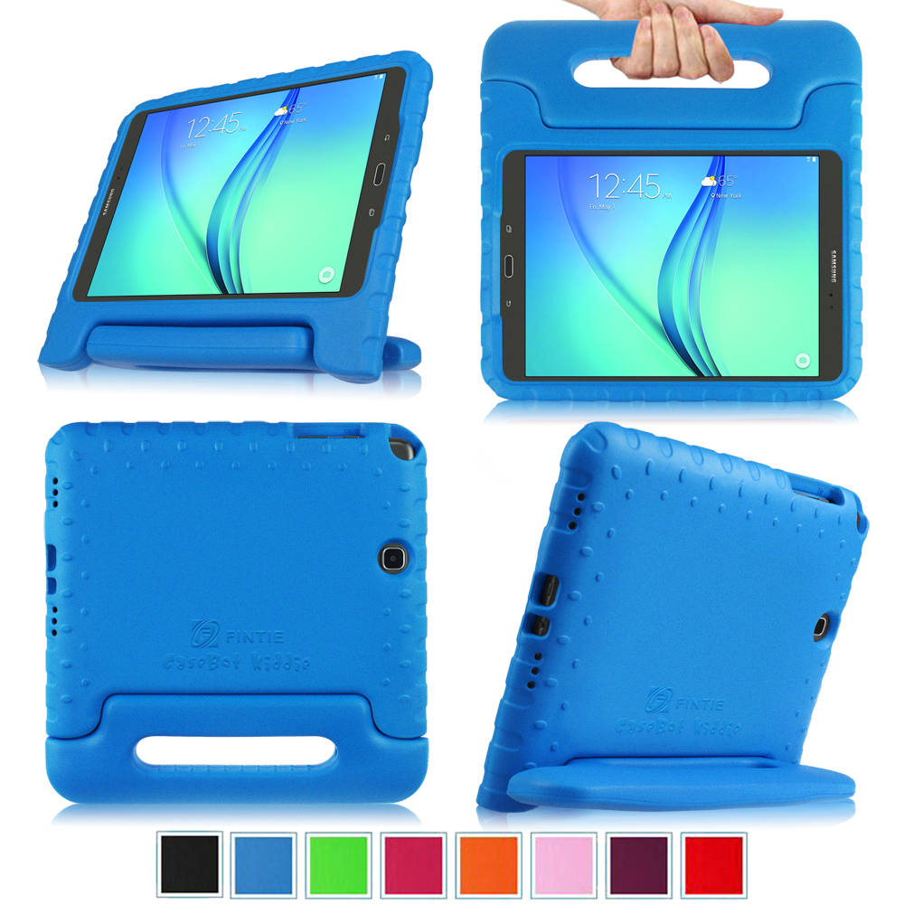 Fintie Samsung Galaxy Tab A 9.7 SM-T550 / P550 Kiddie Case - Light Weight Shock Proof Handle Stand Kids Cover, Blue