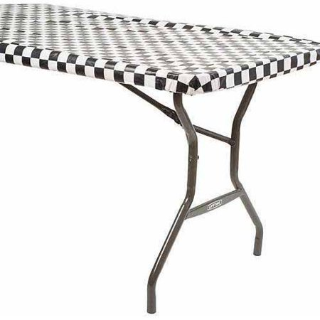 Black And White Checkered Tablecloth (Black and White Checkered 100' Roll Table)
