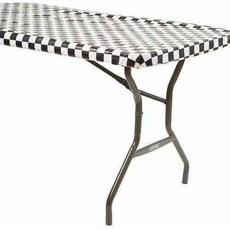 Black and White Checkered 100' Roll Table - Checkered Table Covers