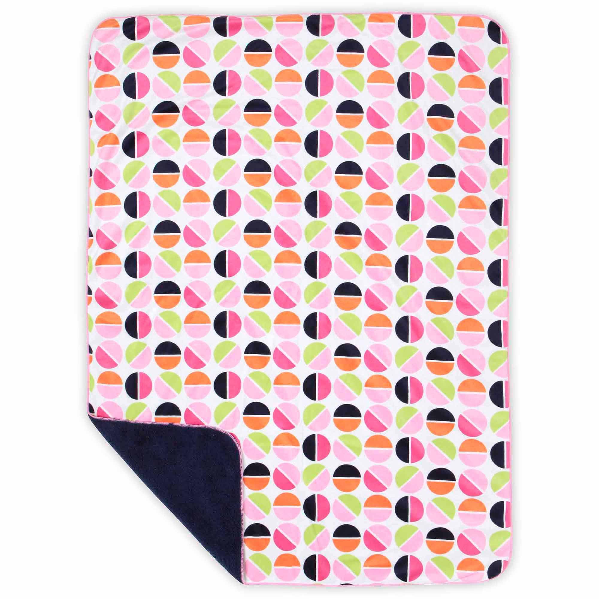 Bananafish Studio Circle Print Minky Reversible Blanket