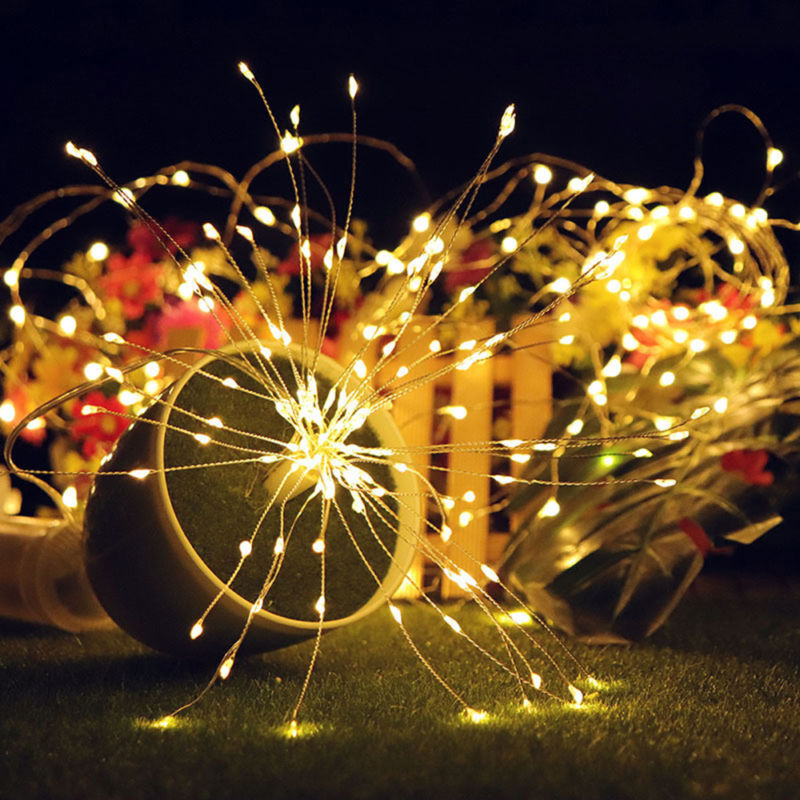 2//4X Firework LED String Lights 180LED Copper Wire Strip Fairy Light with Remote