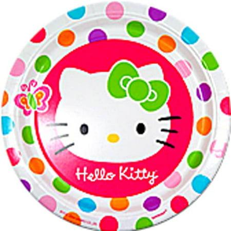Hello Kitty 'Rainbow Stripes' Large Paper Plates (8ct) - Hello Kitty Plates