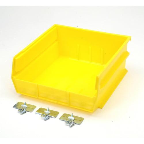 Triton Products BK235 Pegboard Mounted Plastic Bin Kit (Set of 6)
