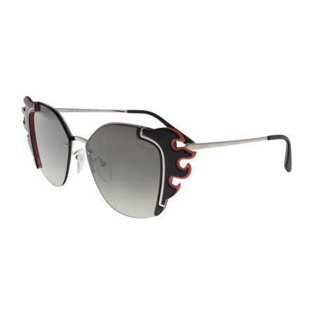 Prada PR59VS 4275O0 ABSOLUTE Silver/Black Orange Cateye Sunglasses