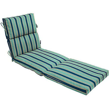 Park ave stripe indigo chaise lounge cushion - Walmart lounge cushions ...