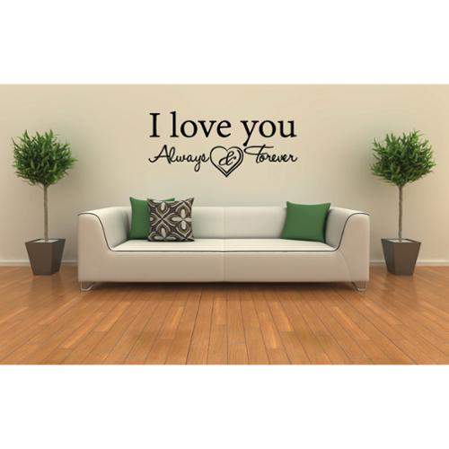 Stickalz llc Always & Forever Found The One My Soul Loves quote Wall Art Sticker Decal