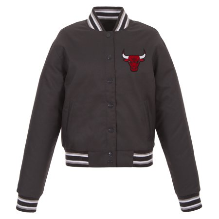 Chicago Bulls JH Design Women s Poly-Twill Full-Snap Jacket ... c47441c3e