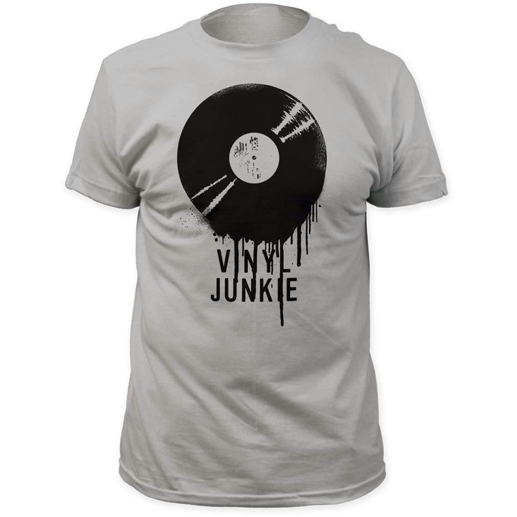 impact originals vinyl junkie adult fitted jersey t-shirt tee