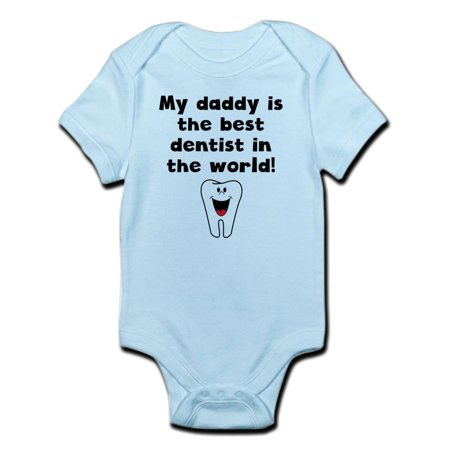 CafePress - My Daddy Is The Best Dentist In The World Body Sui - Baby Light