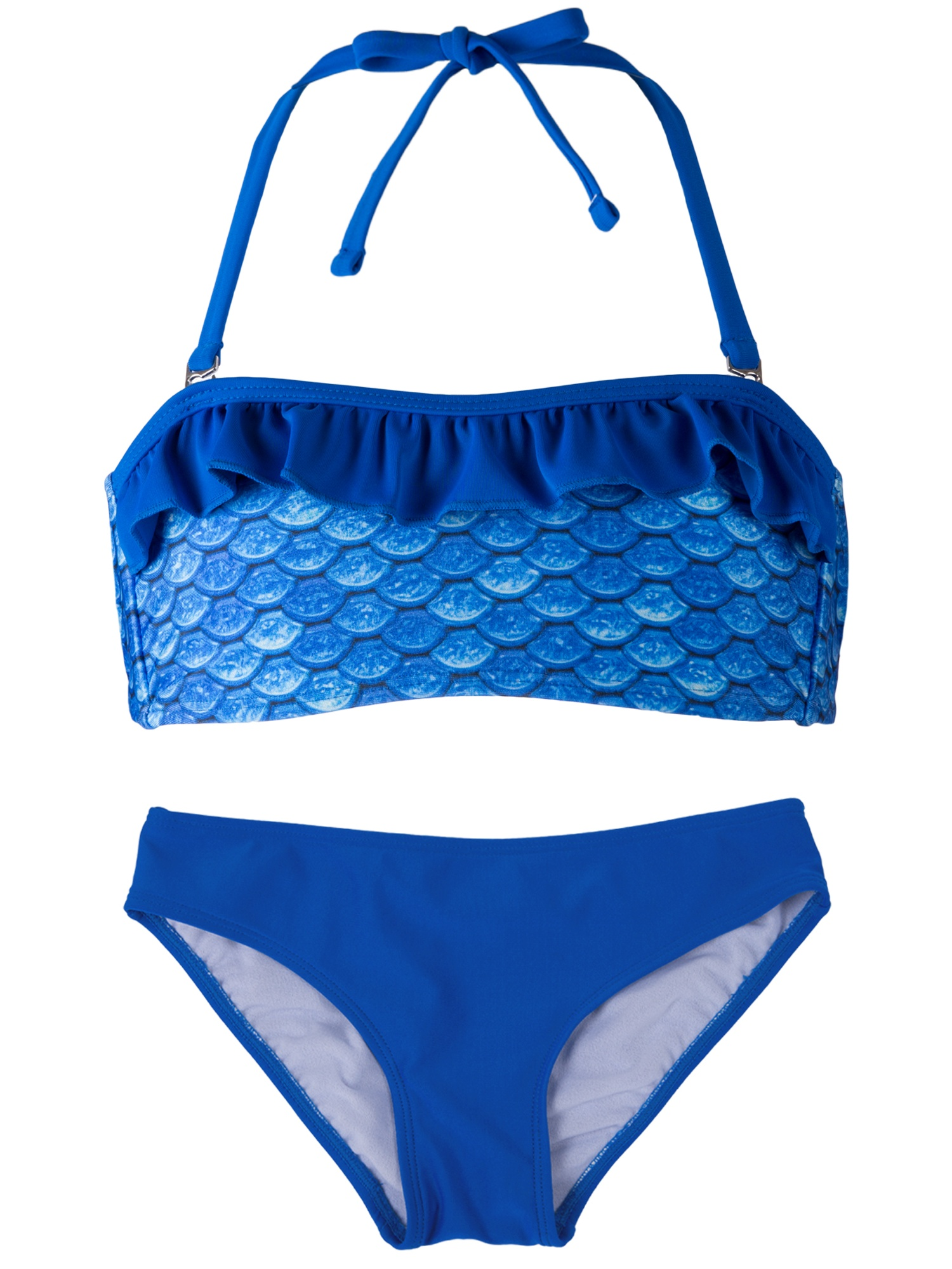 Girls Bandeau Bikini Set by Fin Fun, Matches Fin Fun Mermaid Tails
