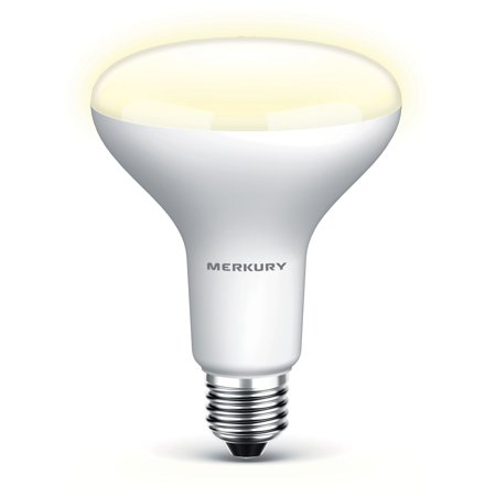Merkury Innovations Bright Spot Tunable White BR30 Light Bulb, W Equivalent, No Hub Required