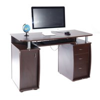 Zimtown PC Laptop Table Computer Desk with 3 Drawers Home office Storage Coffee