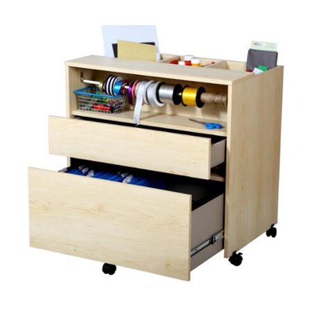 South S Furniture Crea Craft And Hobby Wheeled Storage Cabinet