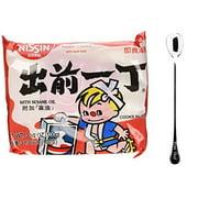 NineChef Bundle - NISSIN Demae Ramen Noodle with Soup Base (Sesame Oil Flavor 30 Pack (One Case) + 1 NineChef ChopStick