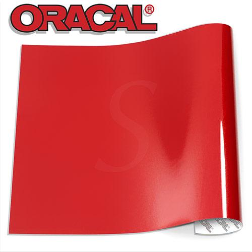 Oracal 651 Glossy Vinyl Sheets - Red