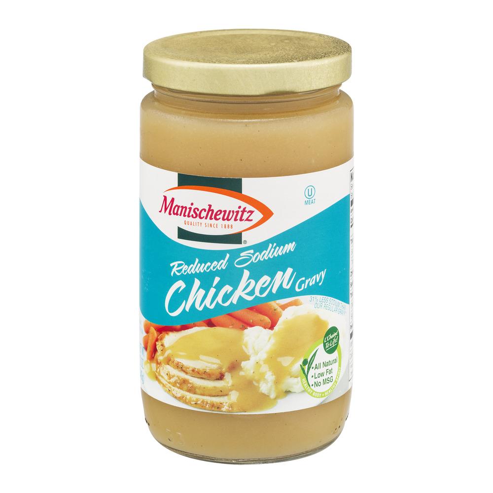 Manischewitz Chicken Gravy Reduced Sodium, 12.0 OZ