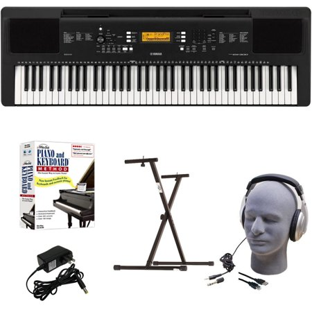 Yamaha PSR-EW300 EPY Educational Keyboard Pack with Power Supply, Bolt-On Stand, Headphones, USB Cable, and Instructional (Yamaha Keyboard Psr E243 Price In India)
