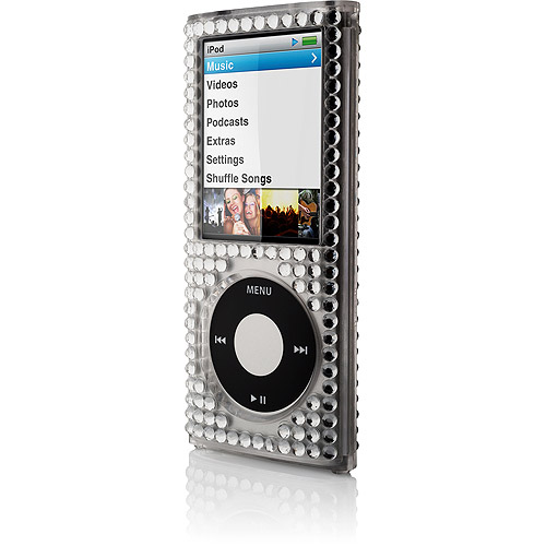 BELKIN iPOD 4G NANO REMIX METAL CASE - CLEAR W/RHINESTONES