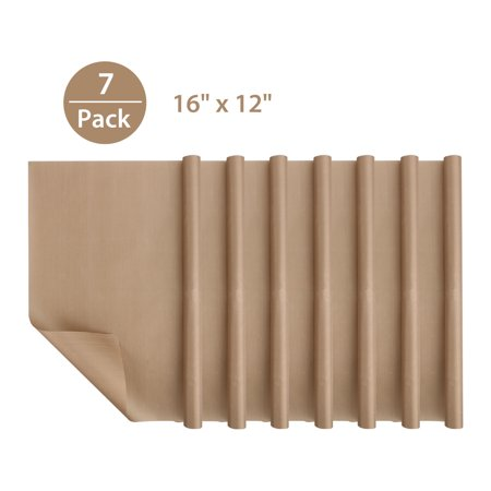 "7-Pack Teflon Sheet for Heat Press Transfer Sheet, Non Stick PTFE 16"" x 12"" Heat Resistant Craft Mat Protects Iron and Work Area"