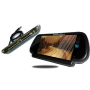 Tadibrothers 7 Inch Mirror with CCD Steel License Plate Backup Camera