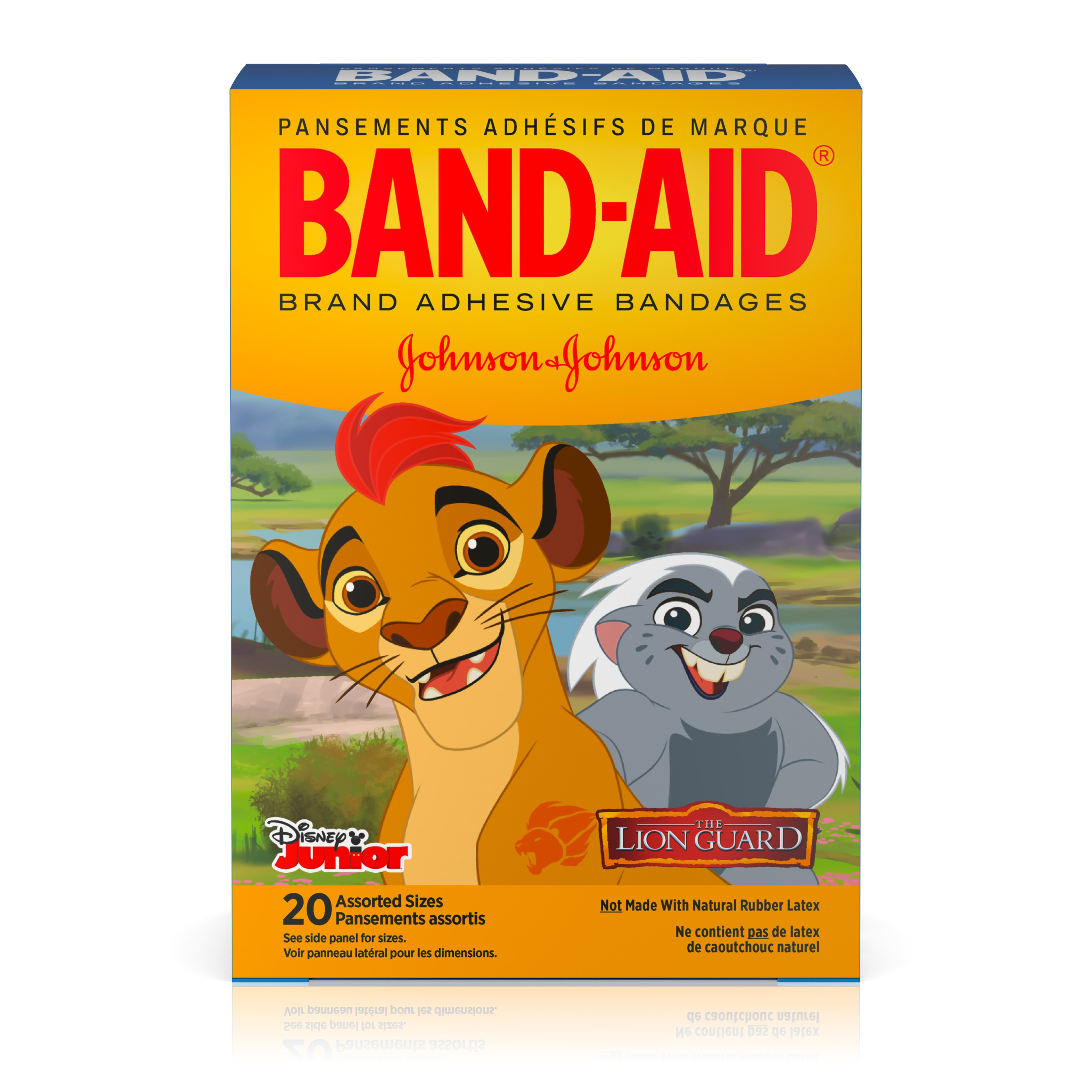 Band-Aid Bandages, Disney Junior The Lion Guard Assorted Sizes 20 ct