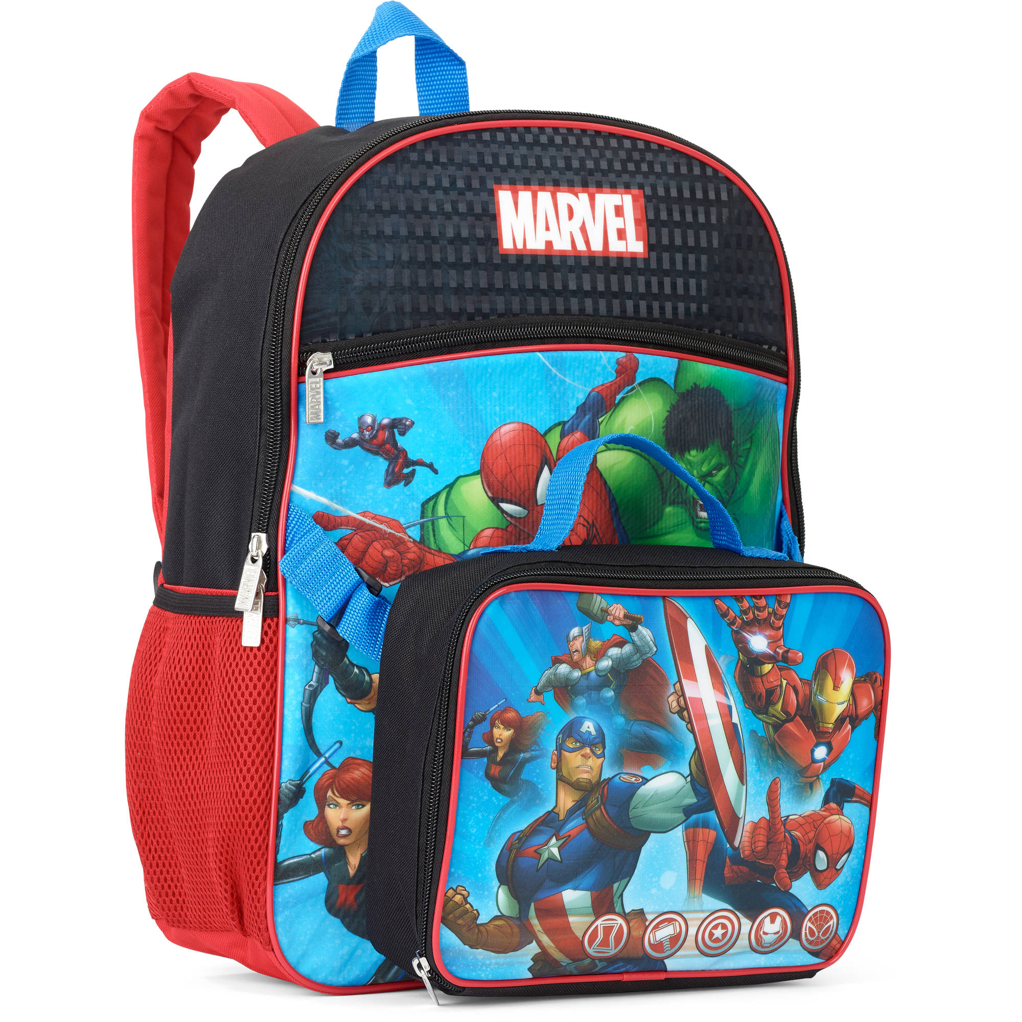Avengers Backpack With Lunchbox