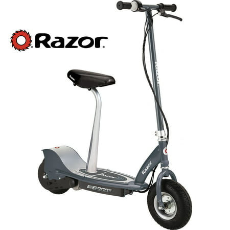 Razor E300S Electric-Powered Seated Scooter with Rear Wheel Drive -