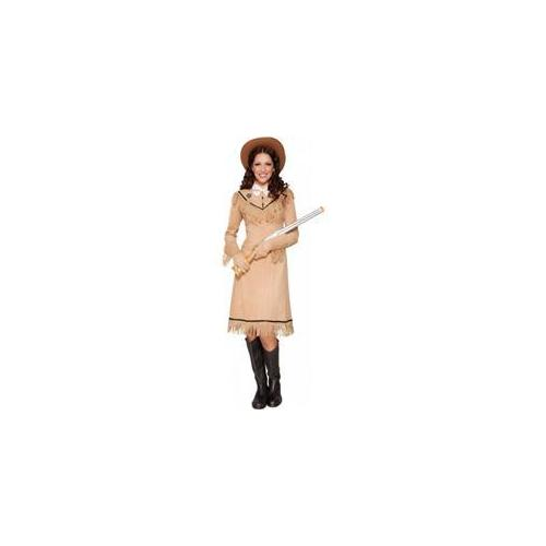 Smiffy's USA 211301 Annie Oakley Adult Costume - Brown - Small