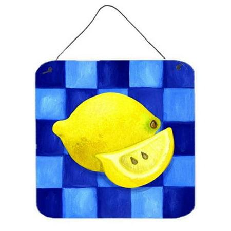 Carolines Treasures WHW0116DS66 Lemon in Blue by Ute Nuhn Wall or Door Hanging Prints - image 1 of 1