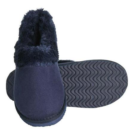 Faux Fur Slipper Boots (SERANOMA Women's Faux Fur House Boot Slippers w/ EVA Foam & Antislip Rubber Sole )