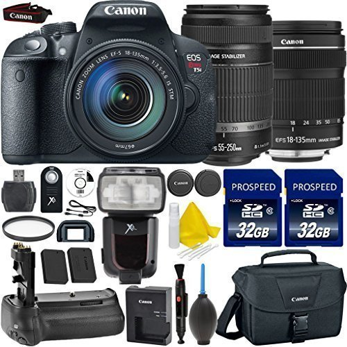 Canon EOS Rebel T5i 18.0 MP CMOS Digital SLR Camera + Canon EF-S 18