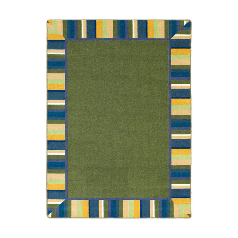 Joy Carpets 1535-01 Clean Green Just for Kids Rug 5-ft 4-in 7-ft 8-in