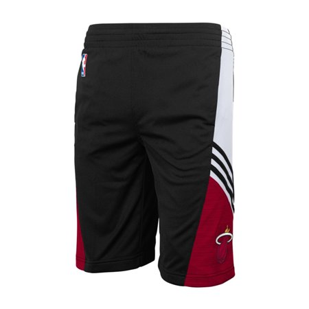 Adidas Miami Heat Pre-Game Black On-Court Shorts Mens by