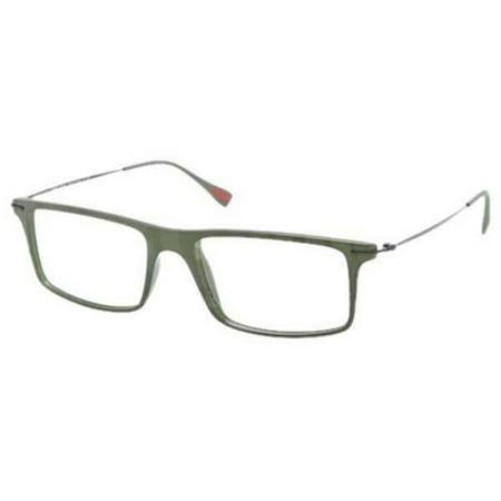 809384cc89ad Prada-PS03EV-ROS1O1-Red-Feather-Men s-Green-Frame-Clear-Lens-Genuine- Eyeglasses - Walmart.com