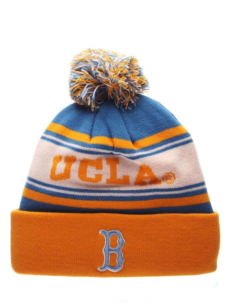 3aa390f1219ff UCLA Bruins Zephyr Finish Line Pom Knit Beanie - Walmart.com