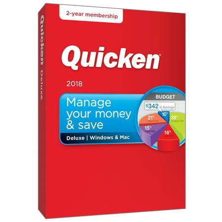 Quicken Deluxe 2 Year Win/Mac (2018 release)