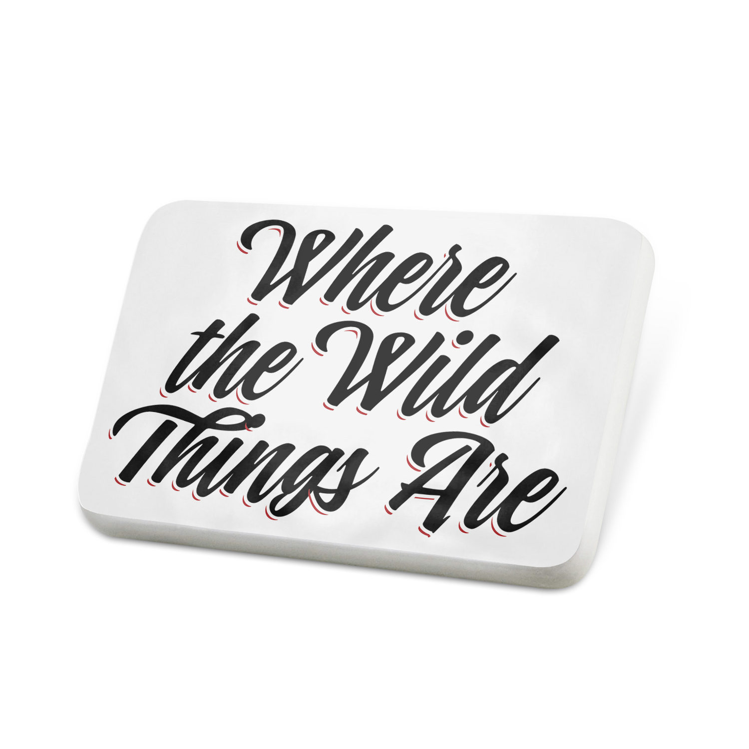 Porcelein Pin Vintage Lettering Where the Wild Things Are Lapel Badge – NEONBLOND